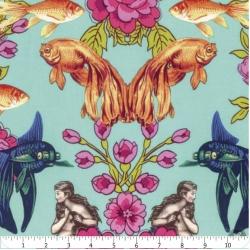 Neptuno y la sirena/Flores y peces/Azul/Tokyo Milk/Free Spirit
