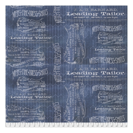 Tela/Free Spirit/Tim Holtz/Dapper/Tailored Blue/Azul