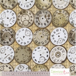 Tela/Free Spirit/Tim Holtz -Foundations-Time -Piece-Neutral