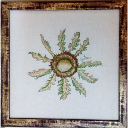 Eguzkilore bordado 40x40 cms