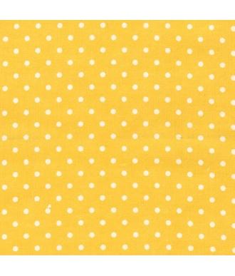 Tela Robert Kauffman franela lunares amarillo