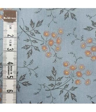 Tela Sevenberry Junko Matsuda 10121 Flores Azul