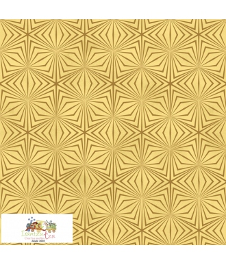 Tela Stof Fabrics Christmas Wonders Lineas Dorado