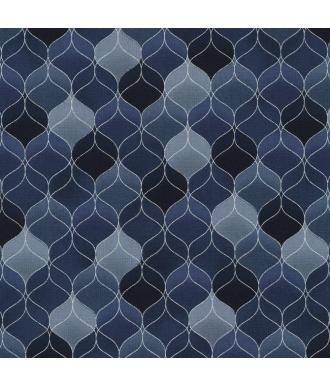 Tela Stof Fabrics Christmas Wonders Estrellas Azul
