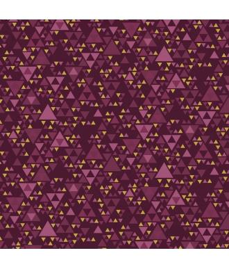 Tela Stof Fabrics Christmas Wonders Triangulos Burdeos