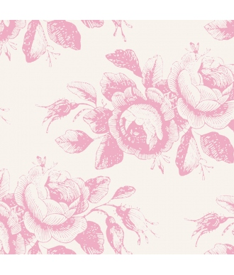 Tela TILDA Old Rose Mary Pink  Rosas Rosa