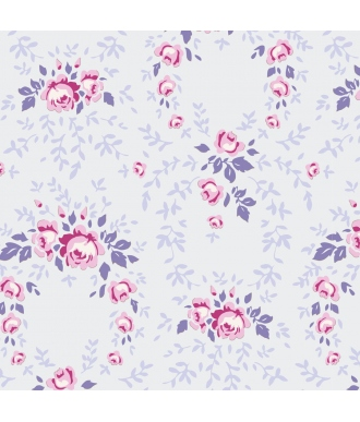 Tela Tilda Old Rose Lucy Lavender Mist Rosas Lavanda