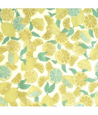 Tela Katia Popelín Summer Limonade Limon