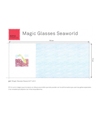 Panel katia magic glasses seaworld Camiseta
