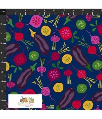 Stof Fabrics My Veggie Kitchen Vegetables Onion & Food 4501-609