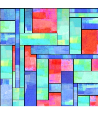 Tela QT Fabrics Stained Glass Garden Stained Glass 28268-X