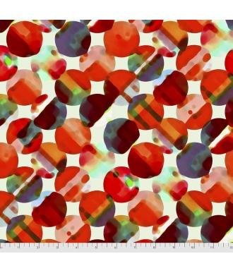 Tela Free Spirit Diagonal Payette Red