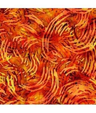 Tela QT Fabrics Tropicalia Swirl Geo Burnt Orange 28192-O