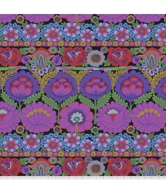 Tela Free Spirit Kaffe Fassett Collective Embroidered Flower PWGP185 Purple