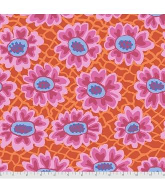 Tela Free Spirit Kaffe Fassett Collective Flower Net PWBM081 Red