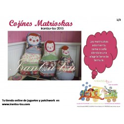 Cojín Matrioska Kit completo